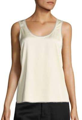 Vince Raw Edge Trimmed Tank