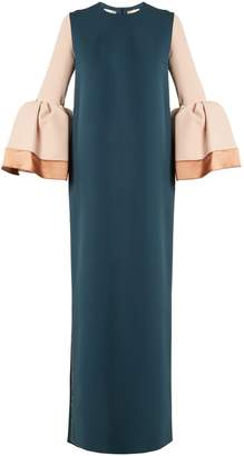 Litani bell-cuff stretch-crepe dress