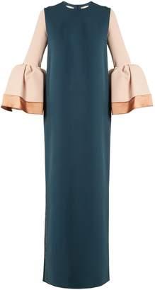 Roksanda Litani bell-cuff stretch-crepe dress