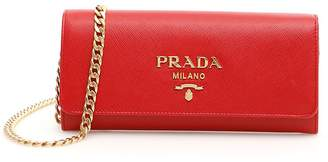 Prada Saffiano Clutch With Strap