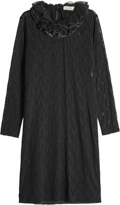 Nina Ricci Lace Dress with Ruffle Collar