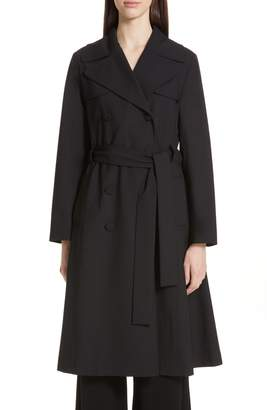 Co Pleat Back Trench Coat