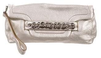 Calvin Klein Leather Wristlet Clutch