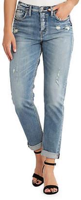 Silver Jeans Distressed Denim Mom Jeans