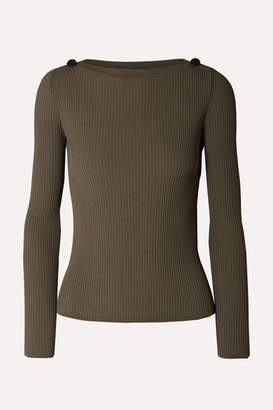 Max Mara Ribbed-knit Sweater - Army green