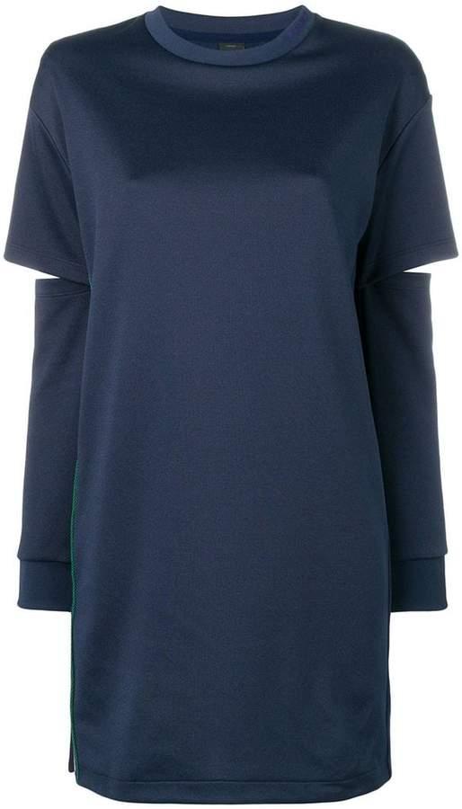 cut-out sweater dress