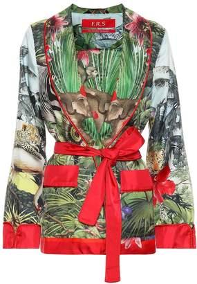 F.R.S For Restless Sleepers Armonia silk pajama jacket