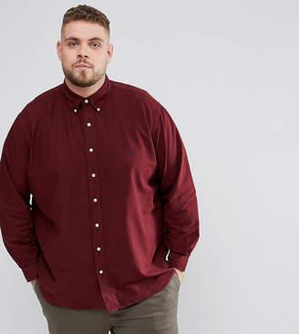 Polo Ralph Lauren Big & Tall Oxford Shirt In Burgundy