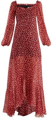 RAQUEL DINIZ Alice poppy-print silk-chiffon gown