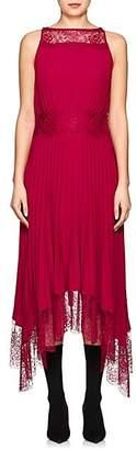 A.L.C. Women's Matilda Pleated Asymmetric Dress - Wine Size 6