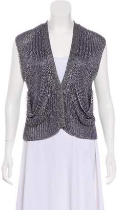 Alexander Wang Metallic Heavy Knit Cardigan