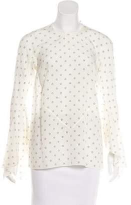 Givenchy Silk Star Print Top