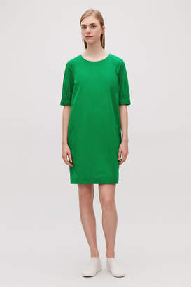 Cos DRESS WITH ELASTICATED SLEEVES