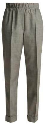 Helmut Lang - Tailored Wool And Mohair Blend Trousers - Womens - Grey