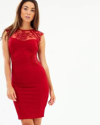 Lipsy Sequin Yoke Body-Con Dress