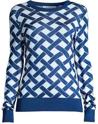 BOSS Fadenia Superfine Jacquard Knit Sweater