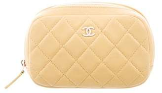 Chanel 2916 Small Quilted Lambskin O-Case