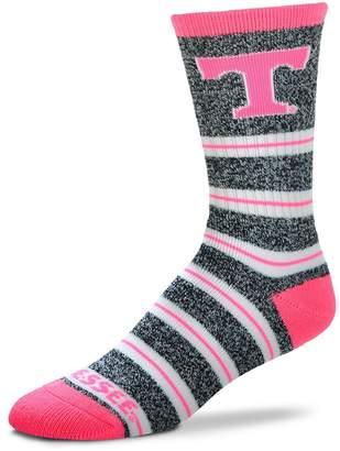 For Bare Feet Women's Tennessee Volunteers Striped Crew Socks