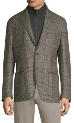 Corneliani Wool Checker Blazer