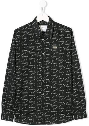 Philipp Plein Junior logo embroidered shirt