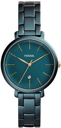 Fossil Women's Jacqueline Teal Green Stainless Steel Bracelet Watch 36mm