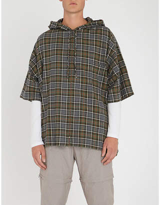 Balenciaga Oversized checked cotton-flannel hoody
