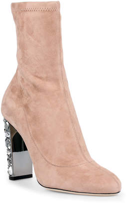 Jimmy Choo Maine 100 ballet pink suede boots