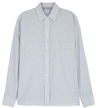 Vince Pinstriped Oversized Cotton Shirt