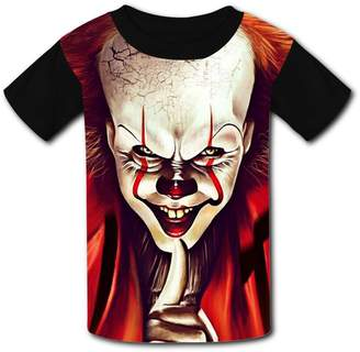 DicoYage Custom Pennywise Cute Boys Girls Teenager Tee Shirt Children Youth T-shirts