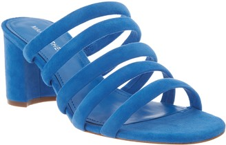 Marc Fisher Suede Tubular Mule Sandals - Shire