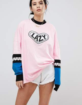 Lazy Oaf Long Sleeve Top With Patch