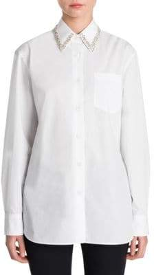 Prada Jewel Collar Shirt