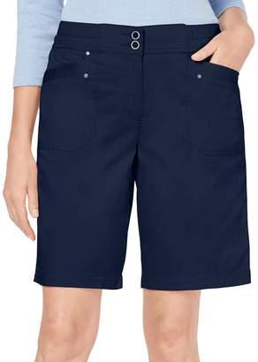 Karen Scott Petite Mid-Rise Stretch Bermuda Shorts