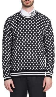 Dolce & Gabbana Polka Dot Silk& Cashmere Sweater
