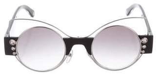 Marc Jacobs Embellished Cat Eye Sunglasses