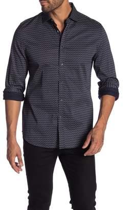 Karl Lagerfeld Paris Patterned Long Sleeve Modern Fit Shirt