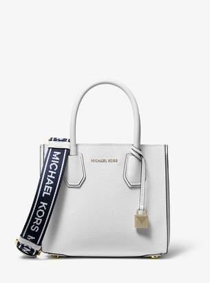 f59f19943f09d6 MICHAEL Michael Kors Mercer Medium Leather Logo Tape Accordion Crossbody Bag