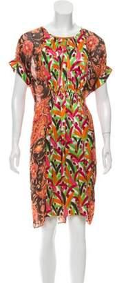 Duro Olowu Paisley Midi Dress brown Paisley Midi Dress