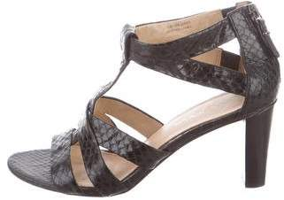 Via Spiga Snakeskin Crossover Sandals