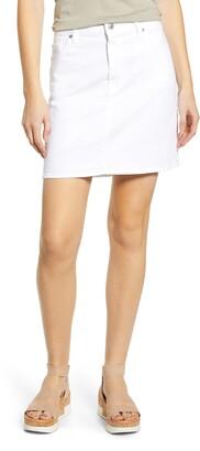 7 For All Mankind Denim Miniskirt