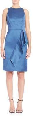 Shoshanna Ruffle Sheath Dress