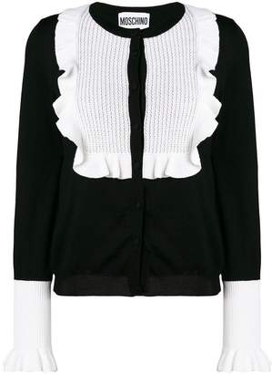 Moschino ruffled bib cardigan