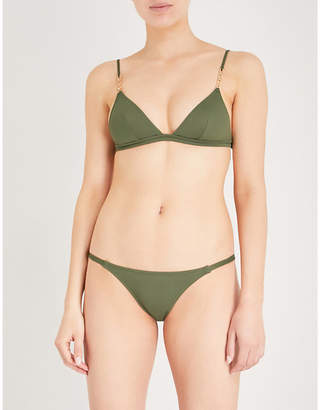 Melissa Odabash Ladies Khaki Mexico Triangle Bikini Top