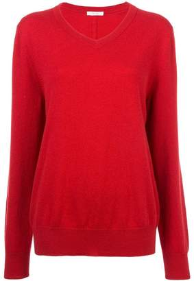 The Row subtle V-neck jumper