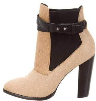 Elizabeth and James Solar Ponyhair Ankle Boots