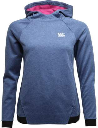 Canterbury of New Zealand Womens Vaposhield Hoody Denim Marl/Fuchsia