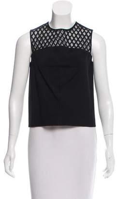 Balenciaga Sleeveless Embroidered Top