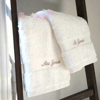 The Alphabet Gift Shop Personalised Mr And Mrs Wedding Towels