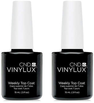 CND Creative Nail Design Vinylux Weekly Top Coat Duo (Two Items), 0.5-oz, from Purebeauty Salon & Spa