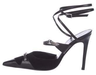Alexandra Neel Suede Ankle Strap Sandals